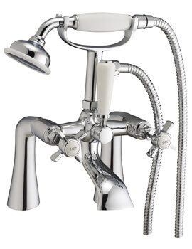 Frontline Holborn Victorian Bath Shower Mixer Tap With Kit