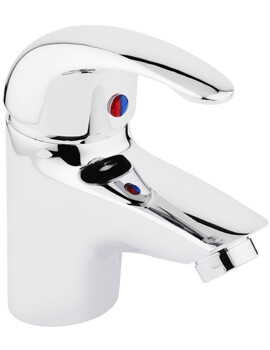 Frontline Compact Basin Mixer Tap With Click Clack Waste