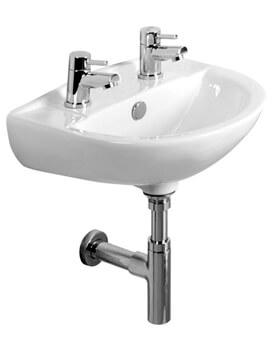 Tavistock Micra 450mm 2 Tap Hole Ceramic Basin
