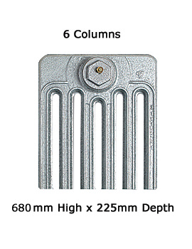 Apollo Firenze 6 Column Cast Iron Radiator 680mm High - 6 To 20 Sections
