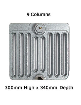 Apollo Firenze 9 Column Cast Iron Radiator 300mm High - 6 To 20 Sections