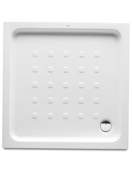 Roca Easy 700 x 700mm Square Vitreous China Shower Tray With Anti Slip Base