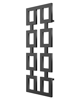 Radox Inka Designer Vertical Radiator 580 x 1700mm - Matt Black