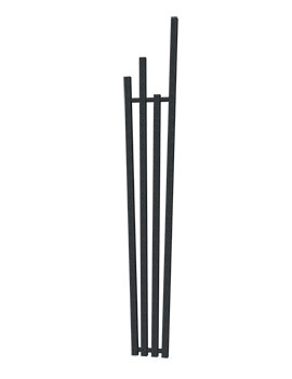 Radox Manhattan Designer Radiator 285 x 1800mm - Black Pearl