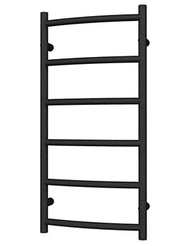 Radox Lacuna Designer Heated Towel Rail 500 x 975mm - Black Pearl