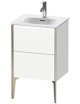 Duravit Xviu Vanity Unit Double Drawer Floor Standing 510 x 420mm