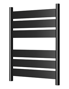 Radox Apollo 500 x 700mm Heated Towel Rail In Black Pearl