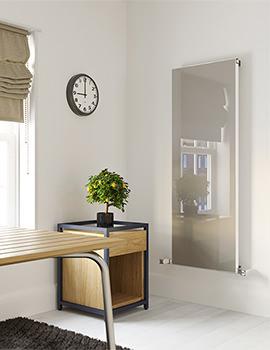 Radox Quartz 800mm Height Coloured Glass Designer Vertical Radiator
