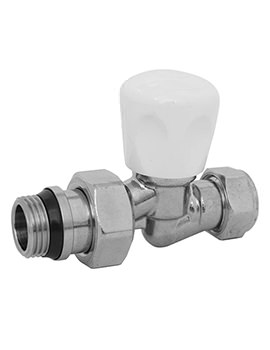 Radox Aquarius 15mm Straight Radiator Valve - White