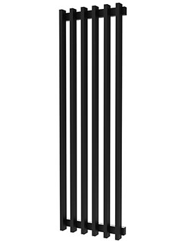 Radox Saber Matt Black Designer Vertical Radiator 570 x 1800mm