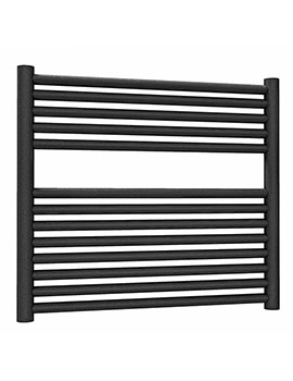 Radox Hercules Straight Black Pearl Heated Towel Rail 542 x 800mm