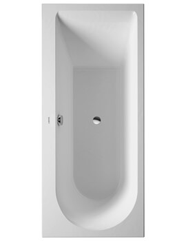 Duravit Darling New Built-In Or For Panel Acrylic Bath With One Backrest Slope