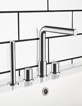 Frontline Vogue 4 Tap Hole Bath Shower Mixer Tap