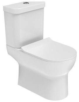 Saneux Air Close Coupled WC Pan With Cistern And Soft Close Seat
