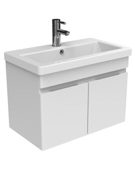 Saneux Air 2 Door Wall Mounted Unit With 1 Taphole Basin