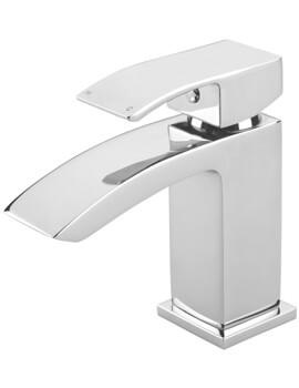 Tre Mercati Whistle Chrome Finish Basin Mixer Tap With Click Clack Waste
