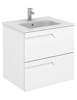 Frontline Royo Vitale Slimline 2 Drawer Wall Hung Vanity Unit With Basin