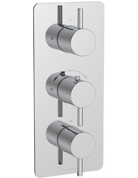 Saneux Cos Concealed Two Way Thermostatic Valve With Stopcocks