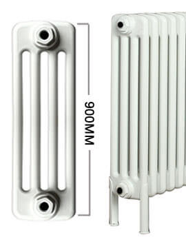 Apollo Roma Horizontal 900mm Height 4 Column Steel Radiator With Feets