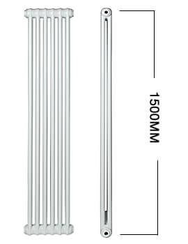 Apollo Roma Vertical 1500mm Height Steel 3 Column Radiator