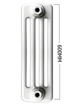 Apollo Roma Horizontal 600mm Height 4 Column Steel Radiator