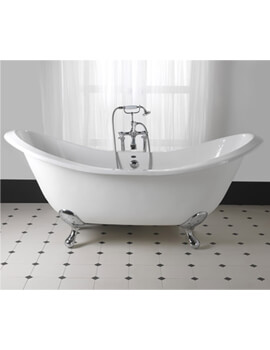 Imperial Sheraton 1800mm Slipper Bath With Ball G + H Feet