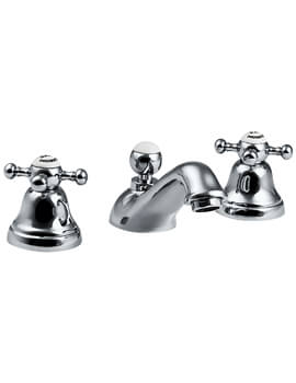 Imperial Westminster 3 Hole Basin Mixer Tap With Pop UP Waste