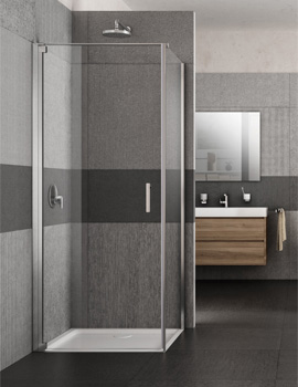Lakes Italia Vivo 700mm Semi-Frameless Left-Hand Pivot Door With Optional Side Panel
