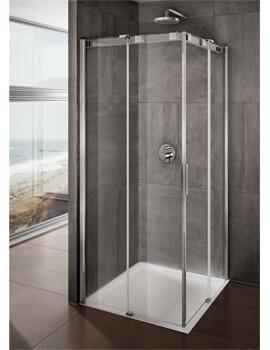 Lakes Italia Avanza Frameless Sliding Door Corner Entry Enclosure 800 x 800mm