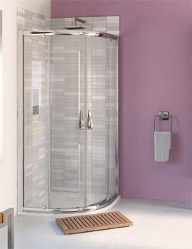 Aqualux Aqua 6 Quadrant Shower Enclosure Polished Silver