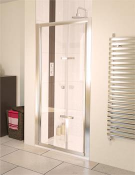Aqualux Aqua 6 Bi-Fold Shower Door 800mm Polished Silver