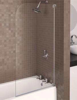 Aqualux Aqua 3 Half Framed Radius Bath Screen Grey