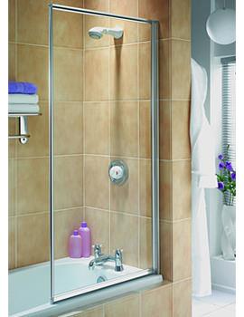 Aqualux Aqua 3 Fully Framed 3mm Clear Glass Bath Screen - Outward Opening
