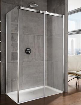 Lakes Italia Luminosa 1000mm Right Hand Frameless Sliding Door With Optional Side Panel