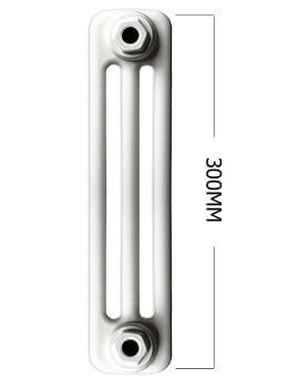 Apollo Roma Horizontal 300mm Height 3 Column Steel Radiator