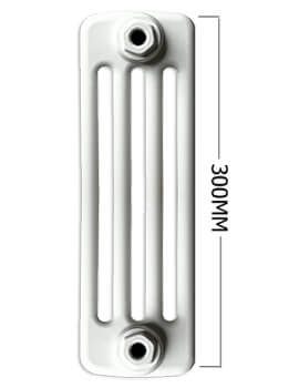 Apollo Roma Horizontal 300mm Height 4 Column Steel Radiator