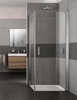 Lakes Italia Vivo 700mm Semi-Frameless Right-Hand Pivot Door With Optional Side Panel