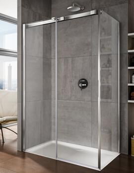 Lakes Italia Luminosa 1000mm Left Hand Frameless Sliding Door With Optional Side Panel