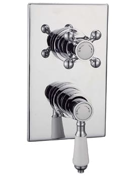 Frontline Edwardian Square Concealed Thermostatic 1 Way Shower Valve