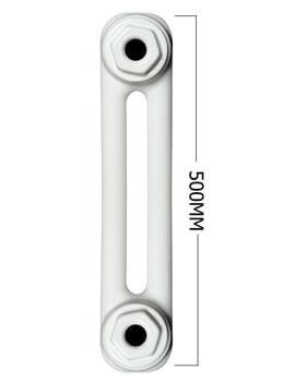 Apollo Roma Horizontal 500mm Height 2 Column Steel Radiator