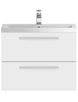 Hudson Reed Quartet 720 x 510mm Wall Hung Vanity Unit And Basin