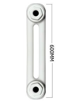 Apollo Roma Horizontal 600mm Height 2 Column Steel Radiator