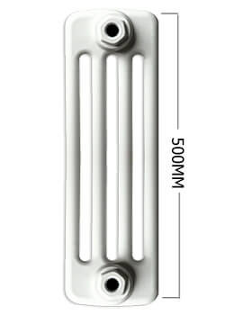 Apollo Roma Horizontal 500mm Height 4 Column Steel Radiator