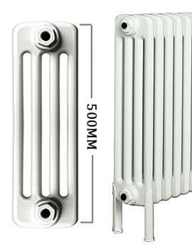 Apollo Roma Horizontal 500mm Height 4 Column Steel Radiator With Feets