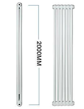 Apollo Roma Vertical 2000mm Height Steel 3 Column Radiator