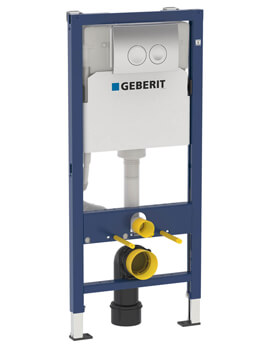 Geberit Duofix 500 x 1120mm Wall-Hung WC Frame With Delta Flush Plate