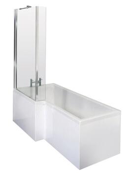 Nuie Premier Square Left Hand 1500mm Shower Bath Set