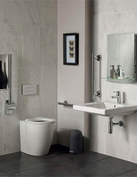 Ideal Standard Concept Freedom Ensuite Bathroom Pack With Back To Wall WC And Basin