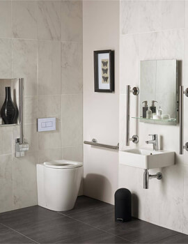 Ideal Standard Concept Freedom Ensuite Bathroom Pack With BTW WC And 400mm Basin