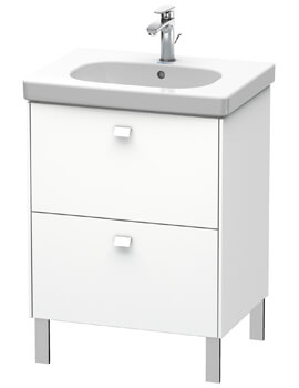 Duravit Brioso Floor Standing 2 Drawer Vanity Unit For D-Code Basin